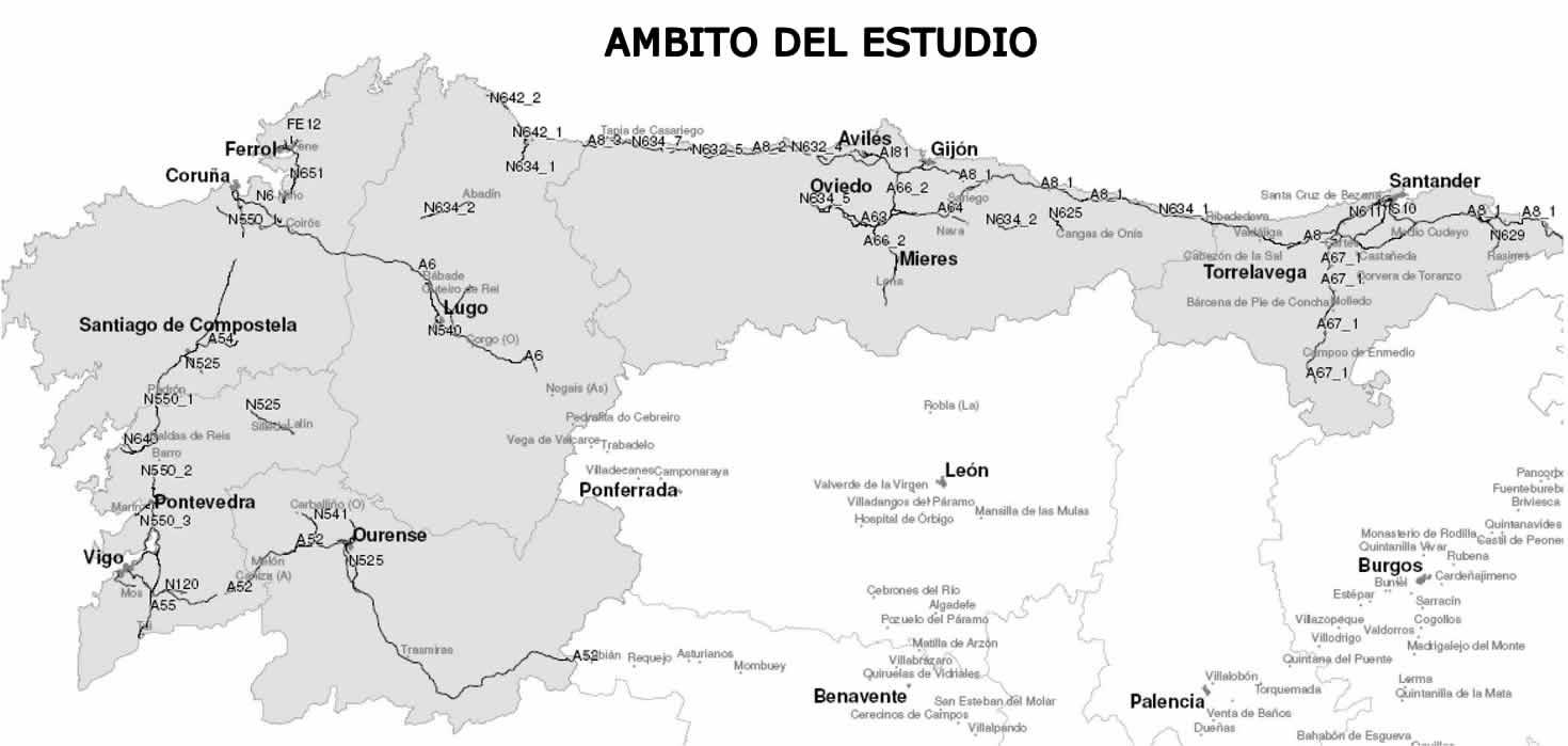 Mapa Asturias Y Cantabria.Cantabria Y Galicia